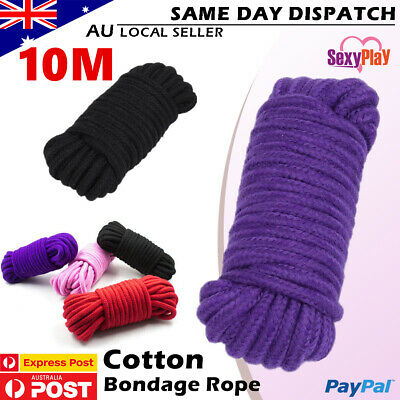 10M Cosplay Sex Fetish Strong Cotton BDSM Rope Strap Restraint Shibari Toy MN