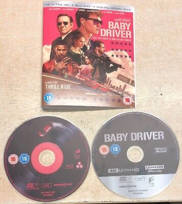 Baby Driver 4k And Blu Ray Disc Only With Sleeve No Case Used In Good Condition