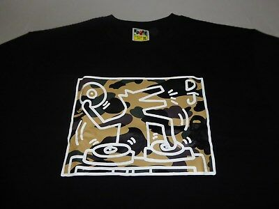 cafdeaa7 100% AUTHENTIC A Bathing Ape BAPE Keith Haring DJ 1st Camo Tee in ...