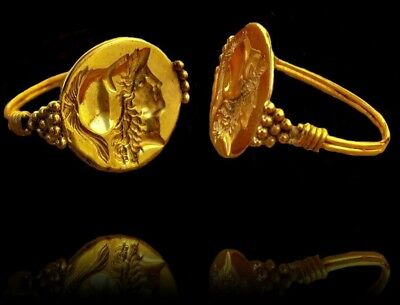 Roman ring  gold 22kilates .Reproduccion Remoneda