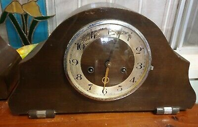 Antique Mantel Clock , Wood Frame