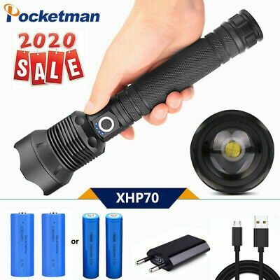 200000LM Led Flashlight Super Bright xhp70 xhp50  torch 18650 Rechargeable