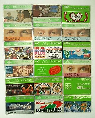 Bt Phonecards - 18 Mixed Phone Cards 1980 - 1990