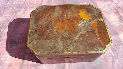 Antique Vintage Oriental Japanese Chinese Asian Lacquered Jewellery Trinket Box