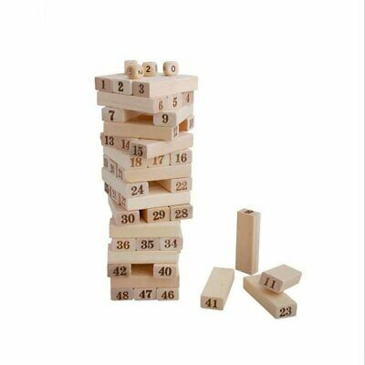 22.5cm Building Block Toy Jenga Board Game Wood Tumbling Tower for Family Party