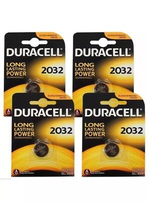 2 X Duracell CR2032 3V Lithium Button Battery Coin Cell DL/CR 2032 / RENATA 2032