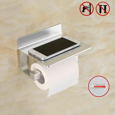 Toilet paper holder WC toilet roll holder without drilling with shelf