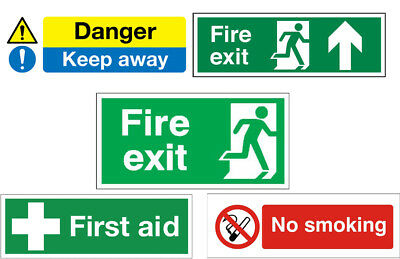 No Smoking, First Aid, Fire Exit, Danger Safety Warning Signs