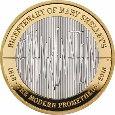 Royal Mint Frankenstein 2018 UK £2 2 Pound Silver Proof Limited Edition Coin NEW