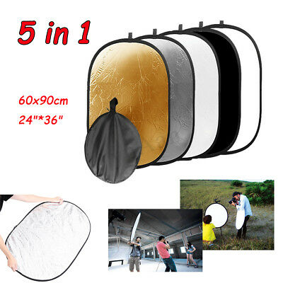 """Photography 24"""" * 36"""" 5-in-1 Mulit Collapsible Light Photo Reflector"""