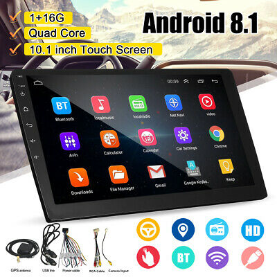 """Double 2 Din 10.1"""" FM Radio Video DAB GPS Aux USB MP3 Android 8.1 Car! !"""