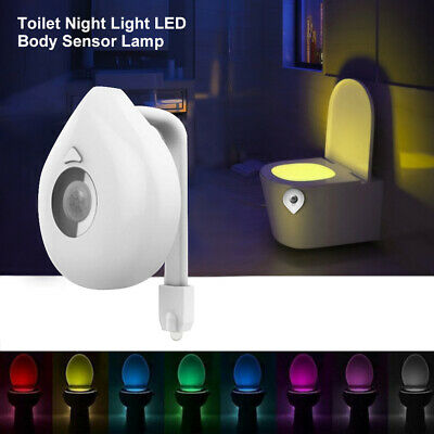 Toilet Night Light 8 Colors LED Motion Sensor Activated Bathroom Illumibowl Seat