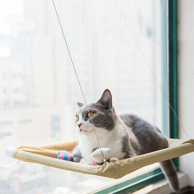 Window Mounted Cat Bed Suction Cup Hanging Sunshine Hammock Perch Cushion Home