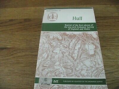 Reprint 1st edition One Inch Ordnance Survey Hull