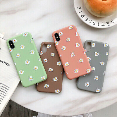 For iPhone XS Max XR X 6 7 8 Plus 5 5s SE Case Flowers Shockproof Soft Cover