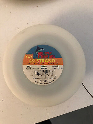 Cavo Acciaio 49 Strand American Fishing Wire 275 Lb 300 Ft Cavetto Traina