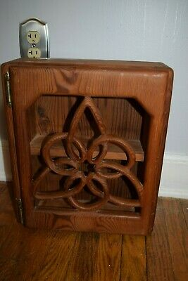 Vintage wood  hand carved cabinet