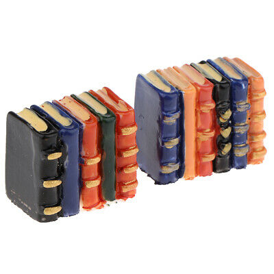 1:12 Dolls House Miniature Resin Books Blocks Model Bookshelf Decoration