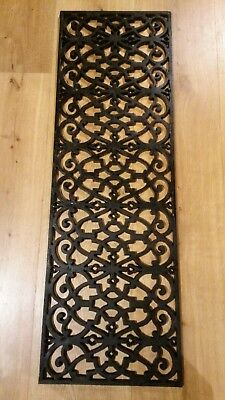 Metal grille reclaimed cast iron.  36.5 x 12 inches