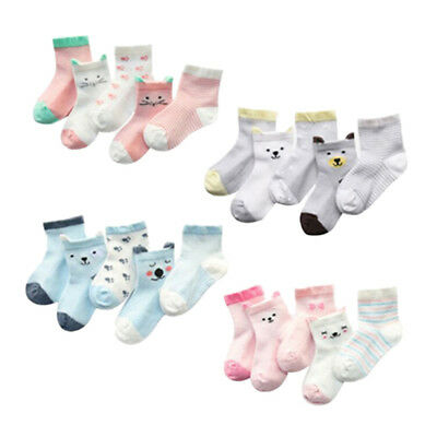 5 Pair/set baby socks kids cotton cartoon socks 0-5 years UK
