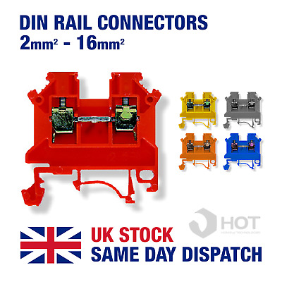 Din Rail Threaded Connectors 2.5mm ~16mm