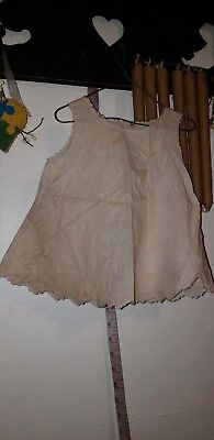 Primitive Peg Hanging Tea Stained Baby Dress For Display. G
