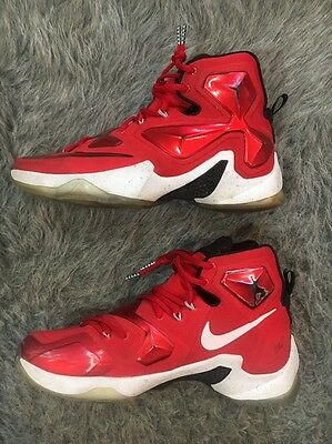 sale retailer 5d730 daff6 Nike Men s Lebron XIII Basketball Shoes 807219 610 Red White Black Size 10