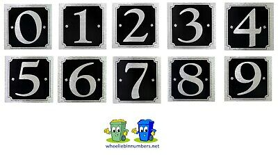 Self Adhesive Black/Silver Door Numbers House Number 0-9 Available Sticker Sign