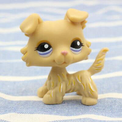 Rare LPS #1194 Collie Dog Littlest Pet Shop Cream Yellow Puppy Action Cute Toy