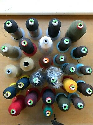 Brand new reels/cops of upholstery thread. Various colours & weights