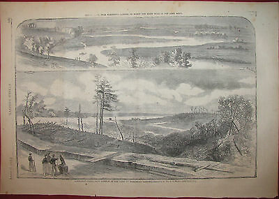 Harrison's Landing Heron Creek Virginia Civil War 1862 Harper's Weekly