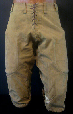 KILLER Pair of Early Old Antique 1920's GOLDSMITH Canvas Football Pants Vintage