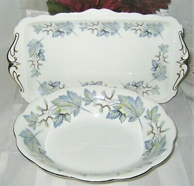 Royal Albert - Silver Maple -  Sandwich Tray and Vegetable Bowl