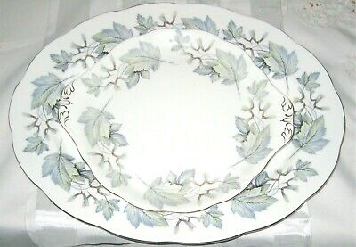 Royal Albert - Silver Maple -  Oval Meat Platter and Handled Cake Tray