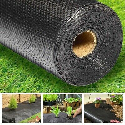 8M / 25M Weed Control Fabric Membrane Ground Cover Sheet Garden Landscape 50Gsm