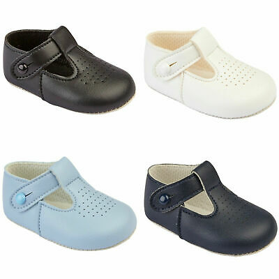Baby Baypods Boys Tradtional T Bar Early Years Christening Wedding Baptism Shoes