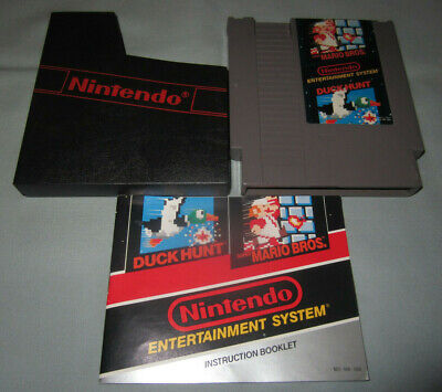 Super Mario Bros./Duck Hunt Nintendo NES Classic Authentic Video Game w/Manual!