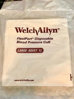 Welch Allyn FlexiPort Disposable Blood Pressure Cuff Adult L Soft-12 MULTI DISC