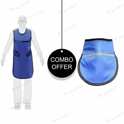 Dental X Ray Protective Apron Lead Vest Cover Shield Rubber + Thyroid Collar