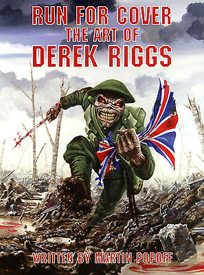 """Derek Riggs Softcover book """"Run For Cover"""" Iron Maiden *BRAND NEW*"""