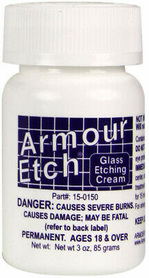 Glass Etching Cream by Armour Etch: Chemical Acid Etching Bottle (2.8, 10, or 22