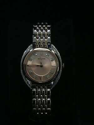 Bulova 98R275 Women's Crystal Accent Two Tone Rose Gold Stainless Steel Watch