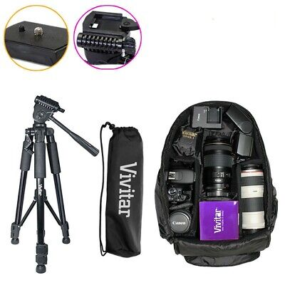 """57"""" Tripod & Camera Backpack Bag for DSLR and Lens - Canon Nikon Sony"""