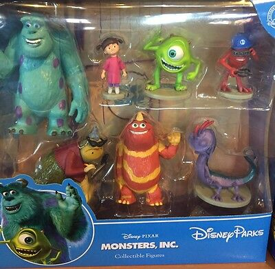 Monsters Inc Cake Toppers Collectible Figures Set Disney World Theme Parks NEW