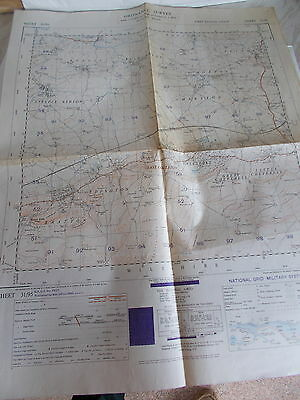A War Office Ordnance Survey Map Of Part Of Wiltshire Sheet 31/95 - 1st Ed. 1950