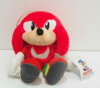 Sonic The Hedgehog KNUCKLES SEGA 1995 Plush Jumbo Suction cups TAG Japan
