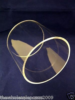 2no 300mm diameter x 5mm wall clear acrylic tubes 300mm long