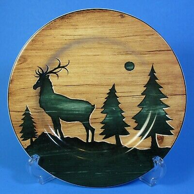 Sakura David Carter Brown Collection LOG CABIN Elk Salad Plate 1