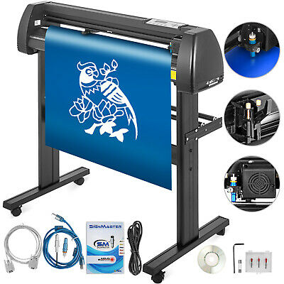 """Vinyl Cutter Plotter Cutting 28"""" Sign Making Drawing Tools W/Table Wide Format"""