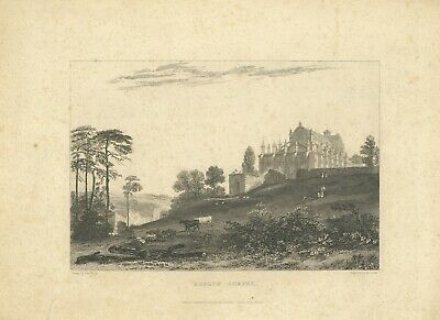 Roslyn Chapel etching 1835 published by Charles Tilt, London